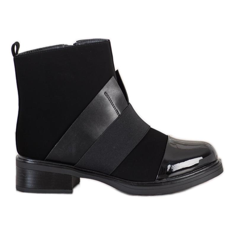 ENPLUS Czarne Botki Fashion