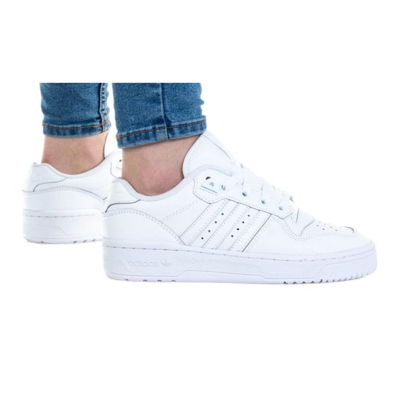 Buty adidas Rivalry Low Jr EG3636 białe niebieskie