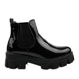 Czarne botki na platformie Lilney NC1086