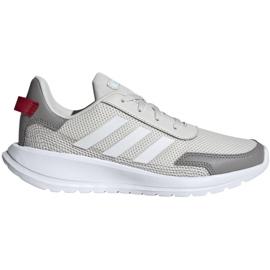 Buty adidas Tensaur Run K Jr EG4130 beżowy czerwone szare