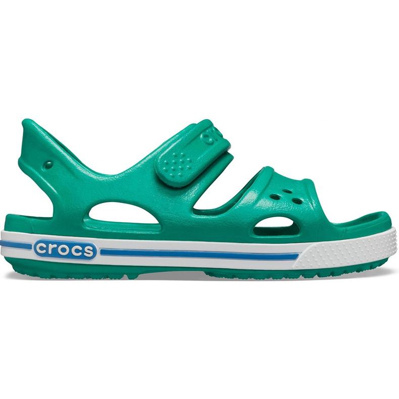 Crocs sandały dla dzieci Crocband Ii Sandal Ps Kids zielono-niebieskie 14854 3TV zielone