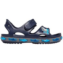 Crocs sandały dla dzieci Crocs Fl Shark Band Sandal B granatowe 206365 410