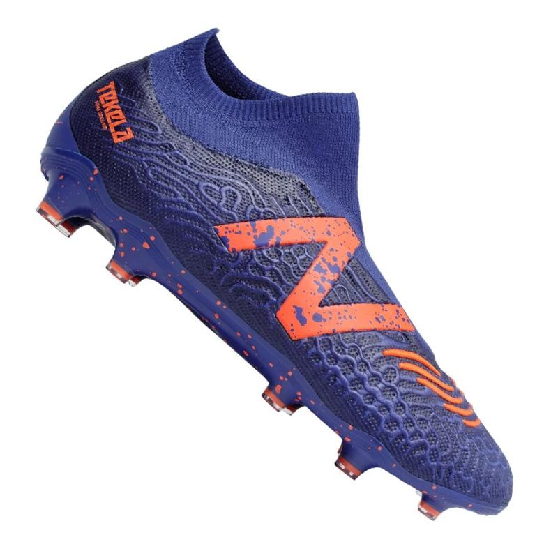 Buty piłkarskie New Balance Tekela v3 Pro Fg BG3 M 814510-60 wielokolorowe fioletowe