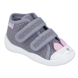 Befado obuwie dziecięce 212P059 różowe szare