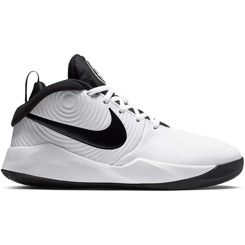 Buty dla dzieci Nike team Hustle D 9 Gs białe AQ4224 100