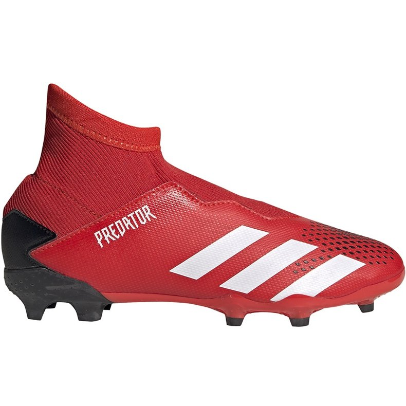 Buty piłkarskie adidas Predator 20.3 Ll Fg Jr EF1907 czerwony,czarny czerwone