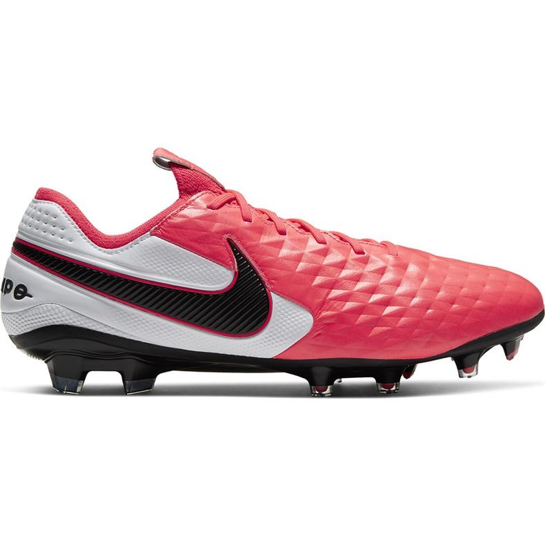 Buty piłkarskie Nike Tiempo Legend 8 Elite Fg AT5293 606 czerwone wielokolorowe