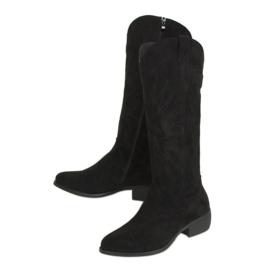 Kozaki kowbojki czarne 231-B0 Black
