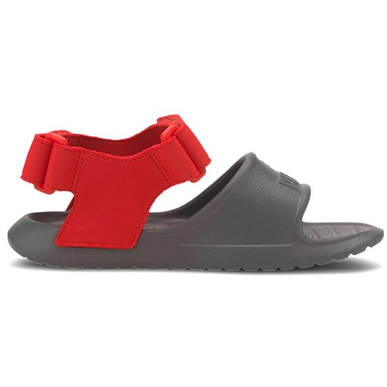 Sandały dla dzieci Puma Divecat v2 Injex Ps szaro-czerwone 369546 05 szare