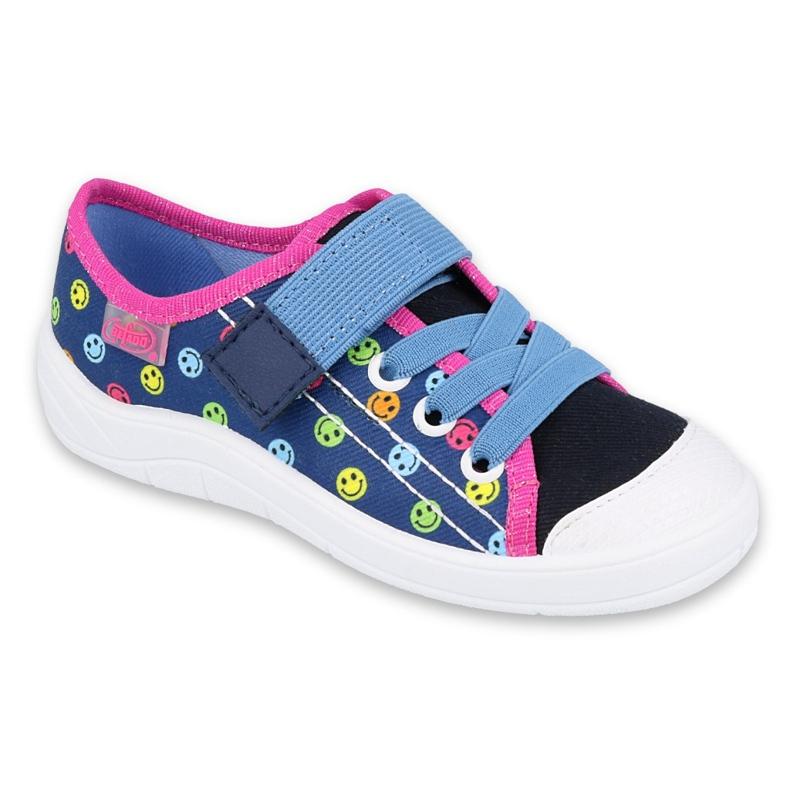 Befado obuwie dziecięce 251Y162 niebieskie różowe wielokolorowe