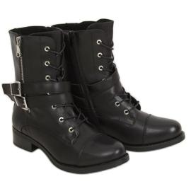 Workery damskie czarne 88075 Black