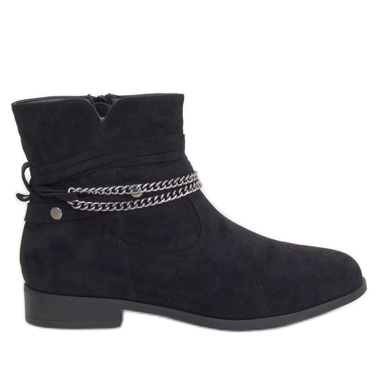 Botki damskie czarne 688-201 Black