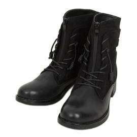 Botki militarne czarne 88039 Black