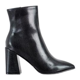 Goodin Botki Na Słupku Fashion czarne