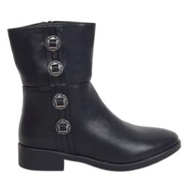 Botki damskie czarne 6266 Black