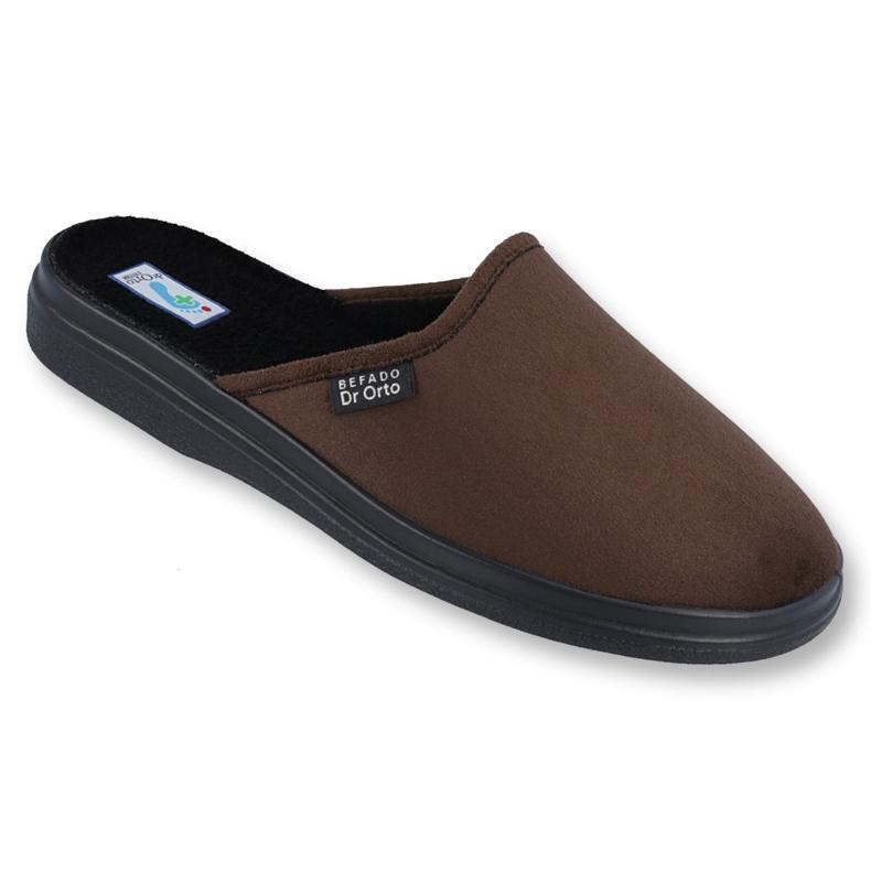 Befado obuwie męskie  pu 132M009 brązowe