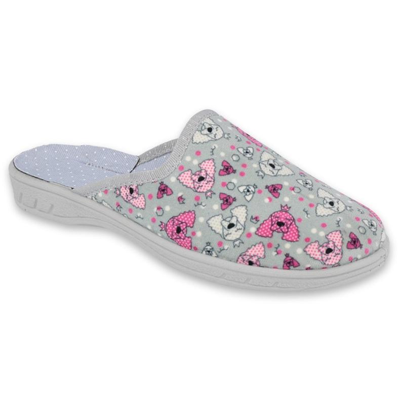 Befado kolorowe obuwie dziecięce     707Y411 różowe szare