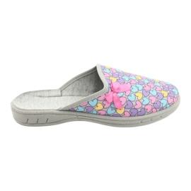 Befado kolorowe obuwie dziecięce     707Y410 fioletowe niebieskie różowe wielokolorowe