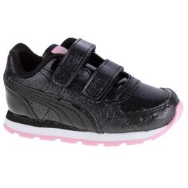 Buty Puma Vista Glitz V Infants Jr 369721-10 czarne różowe