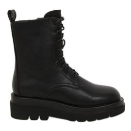 Buty na wysokiej podeszwie czarne RB85 Black