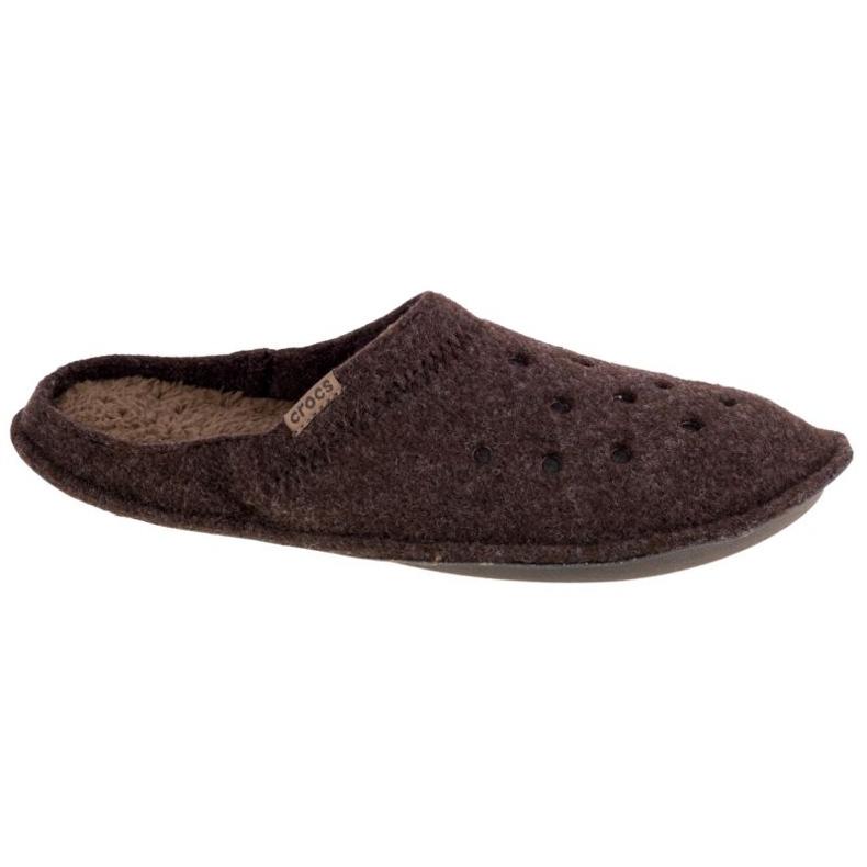 Kapcie Crocs Classic Slipper 203600-23B brązowe