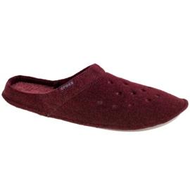 Kapcie Crocs Classic Slipper 203600-60U czerwone