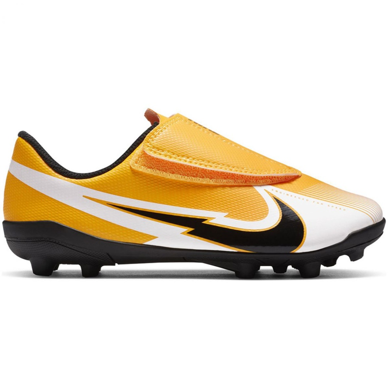 Buty piłkarskie Nike Mercurial Vapor 13 Club Mg PS(V) Jr AT8162 801 żółte żółte