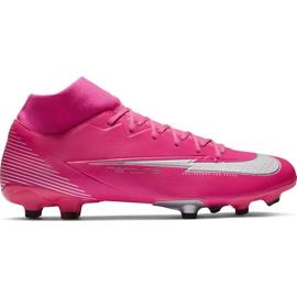 Buty piłkarskie Nike Mercurial Superfly 7 Academy Km FG/MG DB5611 611 różowe różowe
