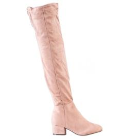 Fashion Pudrowe Muszkieterki różowe