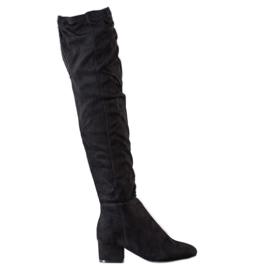 Fashion Czarne Muszkieterki