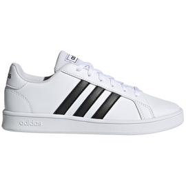 Buty dla dzieci adidas Grand Court K biało-czarne EF0103 białe