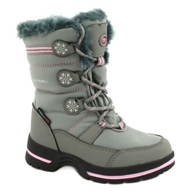 American Club American softhell buty nieprzemakalne SN13/20 grey różowe szare