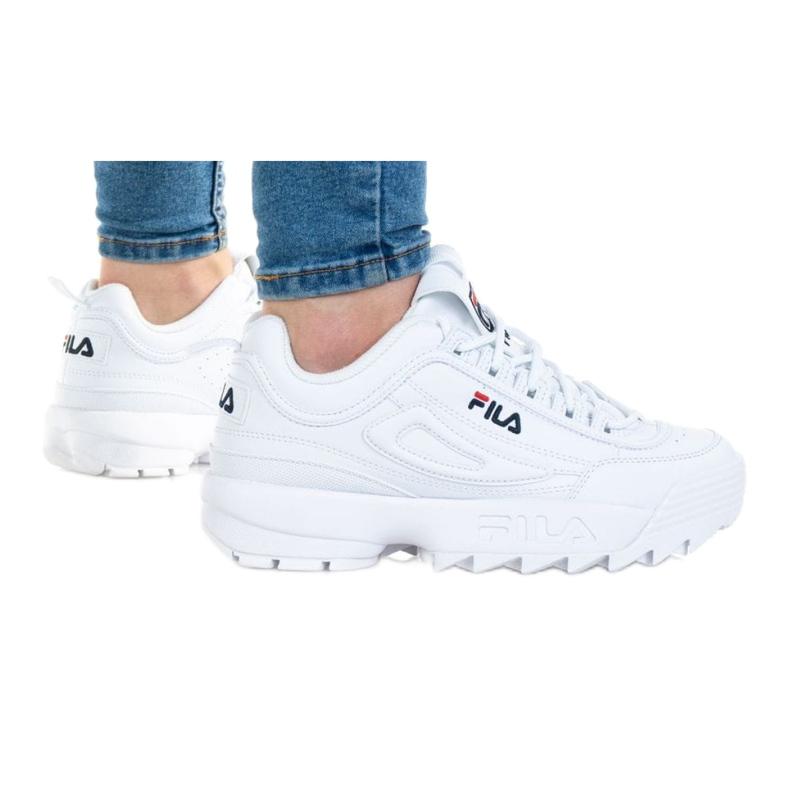 Buty Fila Disruptor Kids 1010567-1FG białe niebieskie