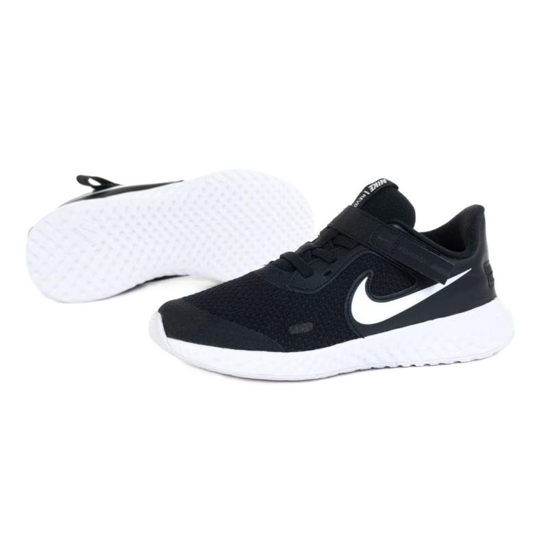 Buty Nike Revolution 5 Flyease Psv Jr CQ4648-004 białe czarne