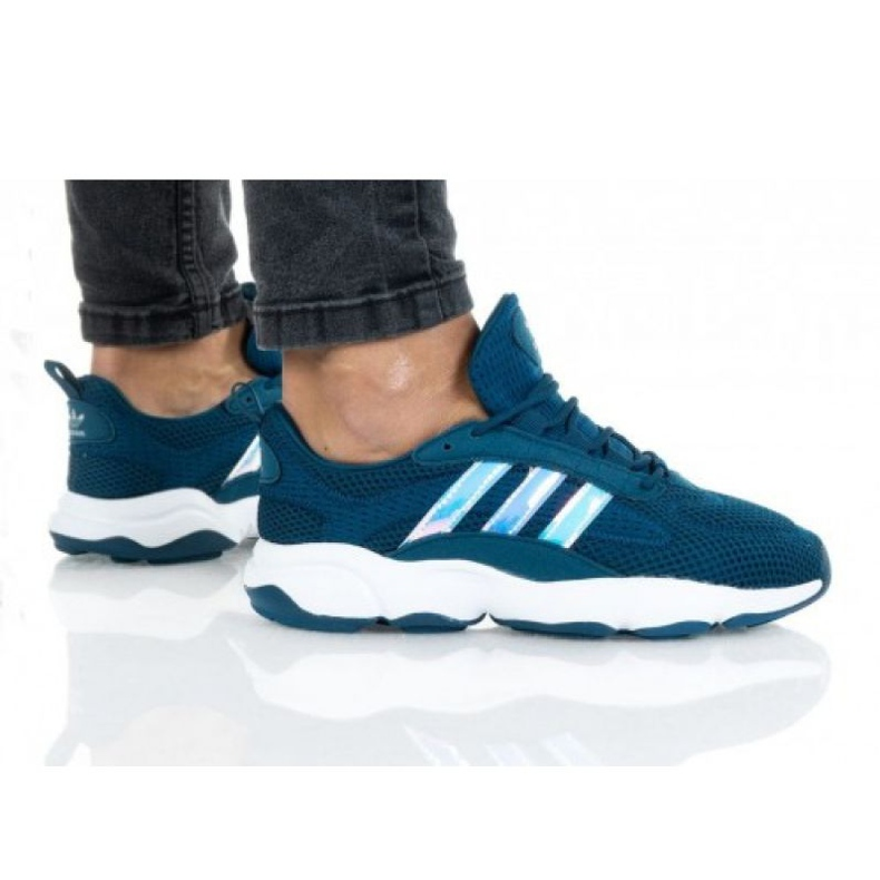 Buty adidas Huiwee Jr EF5779 niebieskie zielone
