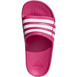 Klapki adidas Duramo Slide K różowe G06797