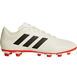 Buty piłkarskie adidas Nemeziz 18.4 FxG D97992 białe wielokolorowe