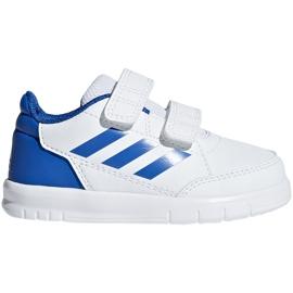 Buty dla dzieci adidas AltaSport Cf I biało-niebieskie D96844 białe