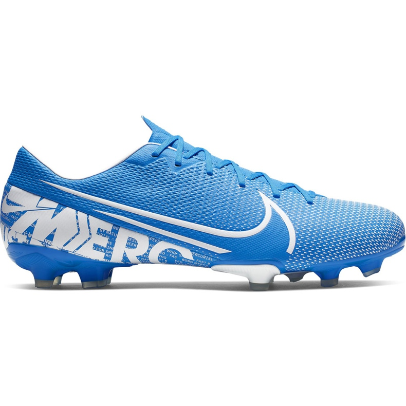 Buty piłkarskie Nike Mercurial Vapor 13 Academy FG/MG AT5269 414 niebieskie niebieskie