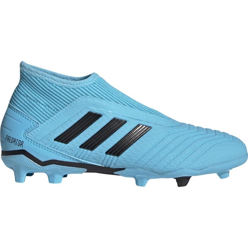 Buty piłkarskie adidas Predator 19.3 Ll Fg Junior niebieskie EF9039