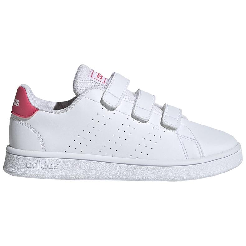 Buty dla dzieci adidas Advantage C biało-różowe EF0221