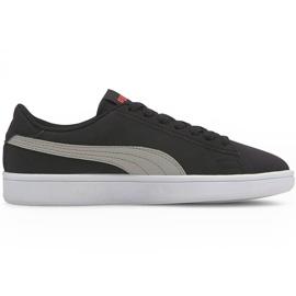 Buty dla dzieci Puma Smash v2 Buck Jr czarne 365182 19
