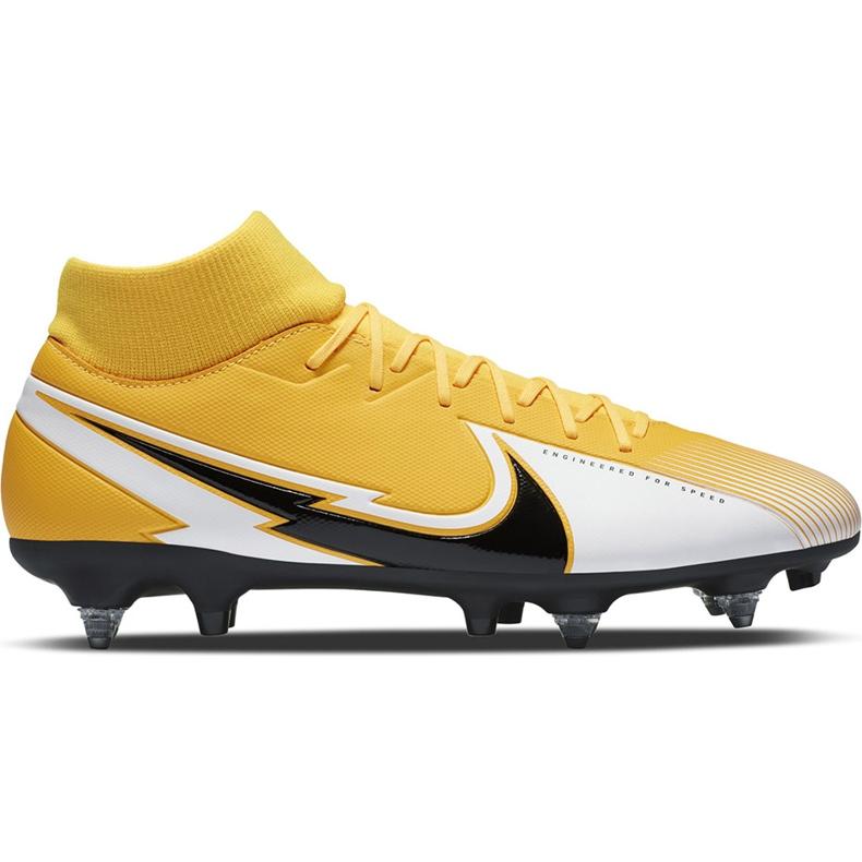 Buty piłkarskie Nike Mercurial Superfly 7 Academy Sg Pro Ac BQ9141 801 żółte pomarańczowe