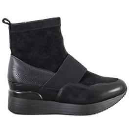 SHELOVET Wsuwane Botki Fashion czarne