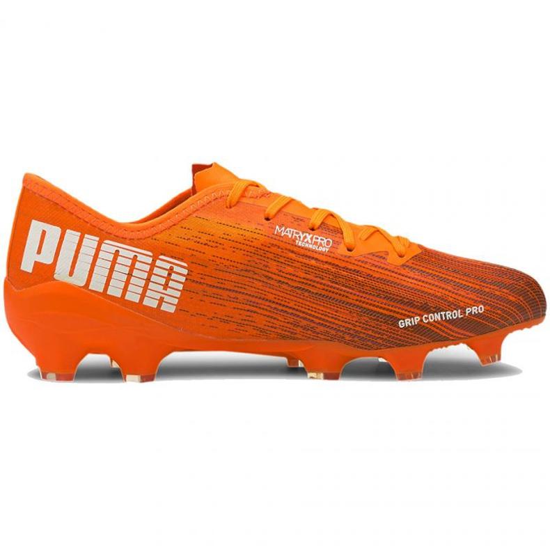Buty piłkarskie Puma Ultra 2.1 Fg Ag M 106080 01 pomarańczowe wielokolorowe