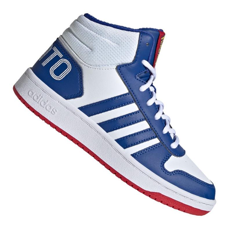 Buty adidas Hoops Mid 2.0 Jr FW3167 białe niebieskie