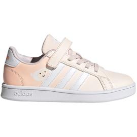 Buty dla dzieci adidas Grand Court C różowe FW4937