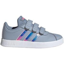 Buty dla dzieci adidas Vl Court 2.0 Cmf szare FW4958