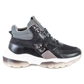 SHELOVET Czarne Sneakersy Fashion wielokolorowe