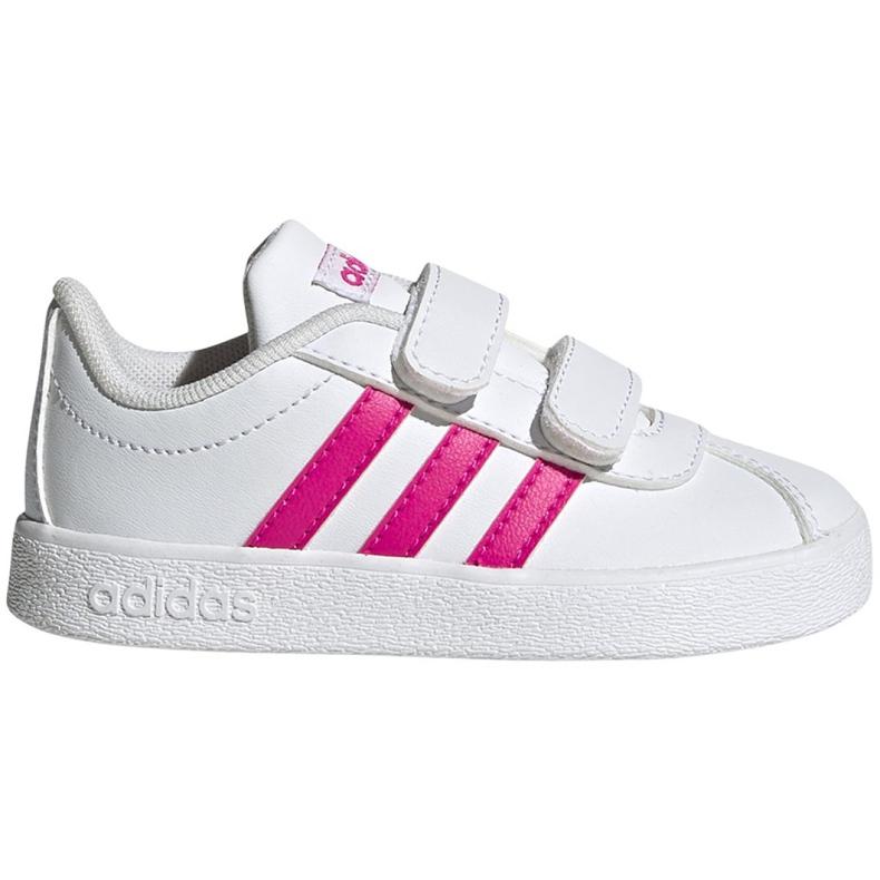 Buty adidas Vl Court 2.0 Cmf Jr EG3890 białe różowe